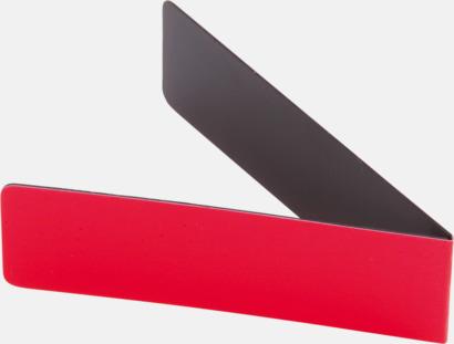 Röd Magnetiska bokmärken med reklamtryck