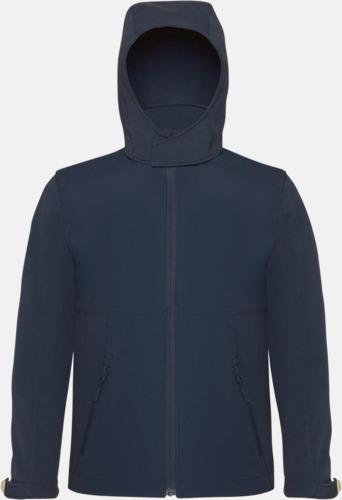 Marinblå (barn) Softshell-jackor för vuxna och barn - med reklamtryck