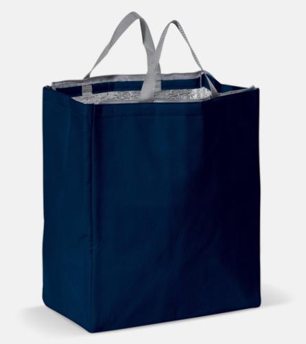 Mörkblå Kylväska i non woven-material med reklamtryck