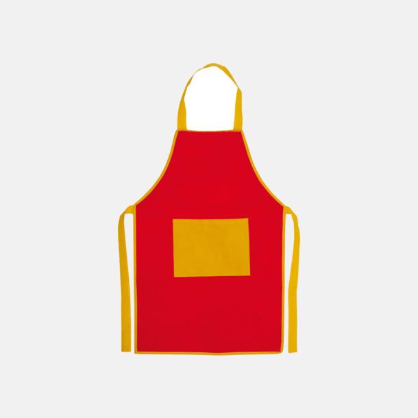 Röd / Gul Förkläden för barn med reklamtryck
