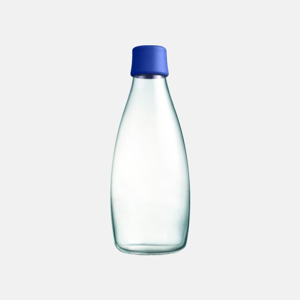 Mörkblå Större glasflaskor med reklamtryck