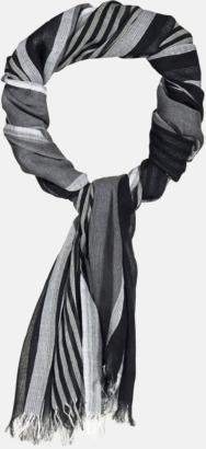 Randiga halsscarfs med brodyrlogo