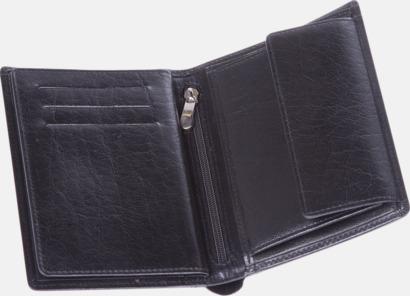 Läderplånbok av hög kvalitet med prägling