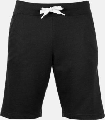 Svart Shorts i herrmodell med reklamtryck