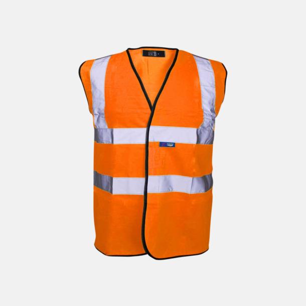 Hi-Vis Orange Färgglada säkerhetsvästar med reklamtryck