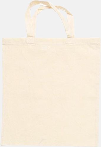 Natur (korta handtag) Billiga bomullskassar med långa eller korta handtag - med reklamtryck