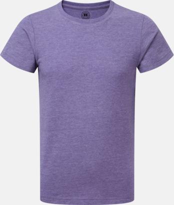 Purple Marl (pojke) Barn t-shirts i u- och v-hals med reklamtryck