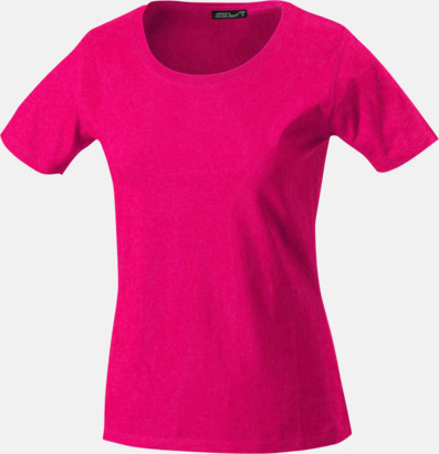 Rosa T-shirtar av kvalitetsbomull med eget tryck