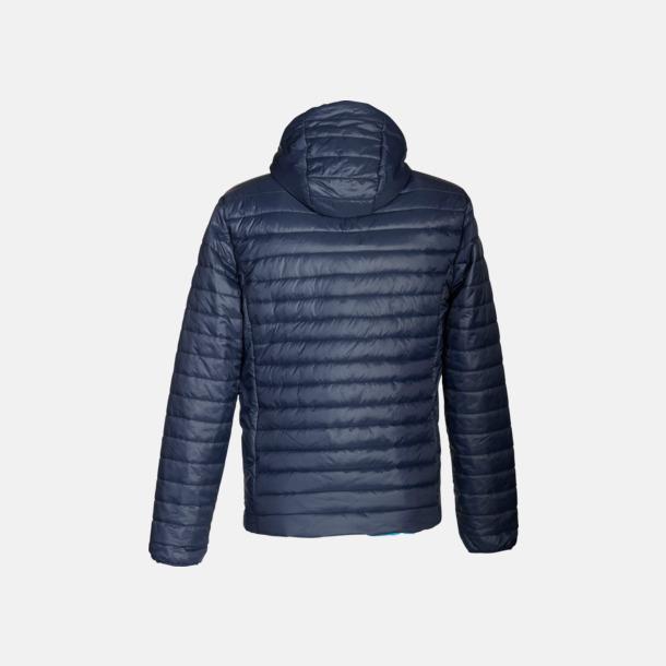 Marinblå/Aqua rygg (herr) Vändbara lättviktsjackor i herr- och dammodell med eget tryck