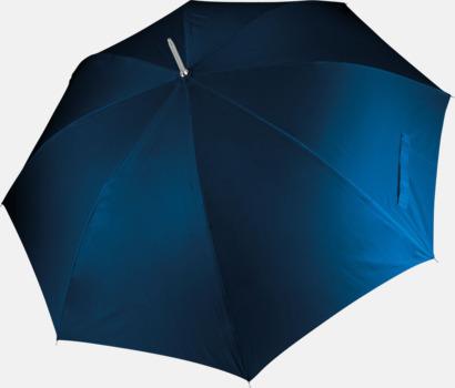 Marinblå Tvåfärgade golfparaplyer med reklamtryck