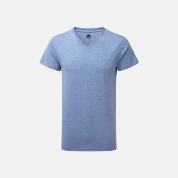 Blue Marl (v-neck herr) Färgstarka t-shirts i herr- och dammodell med reklamtryck