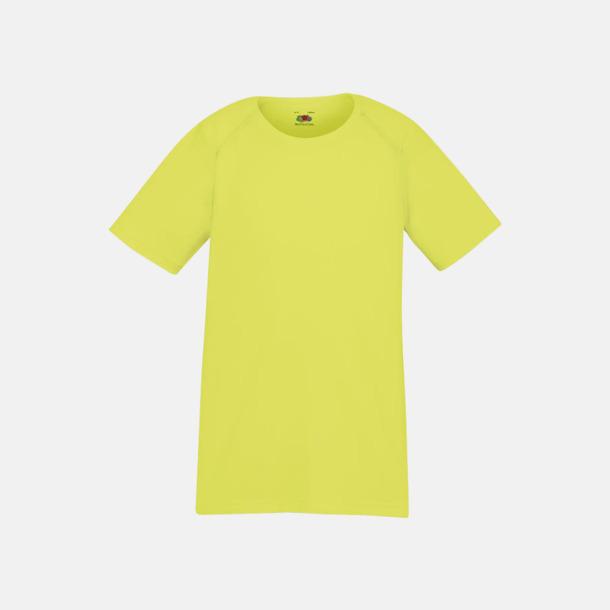 Bright Yellow (barn) Funktionströjor för herr, dam och barn - med reklamtryck