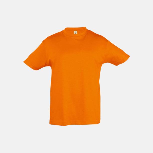 Orange Billig barn t-shirts i rmånga färger med reklamtryck