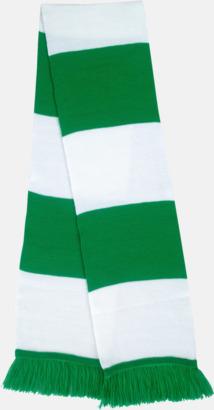 Grön/vit Halsdukar i olika lagfärger med egen brodyr