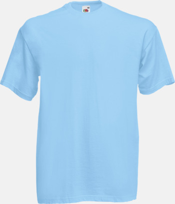Sky Blue Valueweight t-shirt med tryck