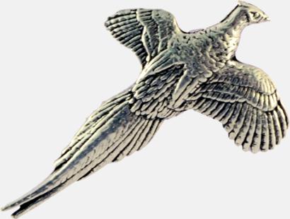 Liten fasan Engelska, handgjorda broscher med jaktmotiv