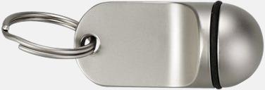 Silver / Svart Metallnyckelring med lasergravyr