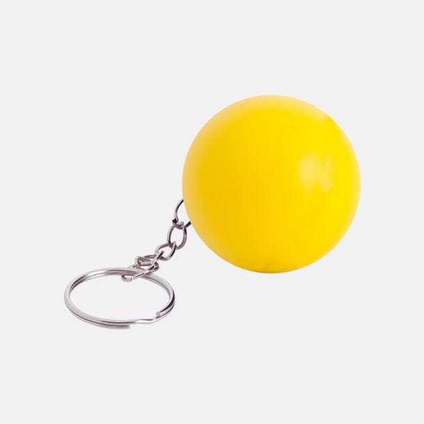 Gul Små stressbollar för nyckelknippan med eget tryck