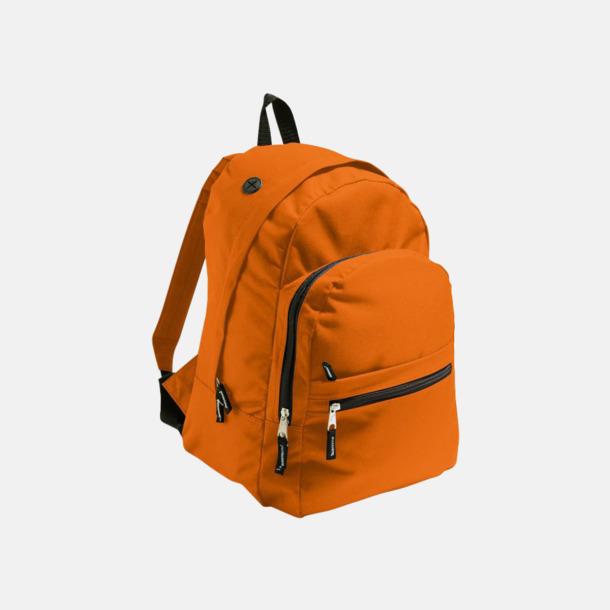 Orange Musikvänliga ryggsäckar med tryck eller brodyr