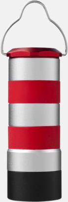 Röd / Silver Fyrformade aluminiumficklampor på 1 watt med reklamtryck