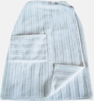 Vit Handdukar speciellt för bastubadande - med brodyr