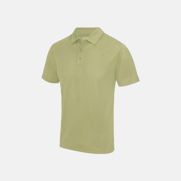Desert Sand Färgglada pikétröjor med reklamtryck