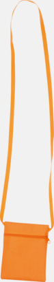 Orange Billigaste halsplånboken med tryck