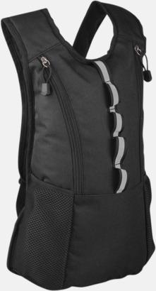 Svart Sportig ryggsäck med eget tryck
