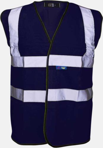 Marinblå Färgglada säkerhetsvästar med reklamtryck