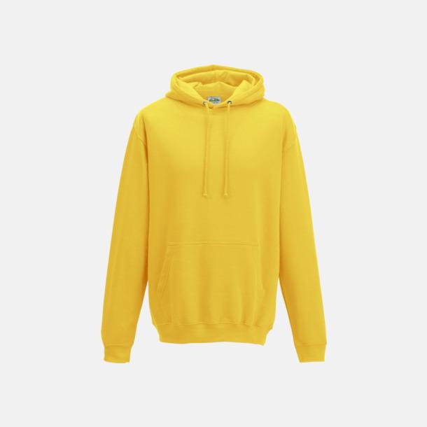 Sun Yellow Billiga collegetröjor i unisexmodell - med tryck