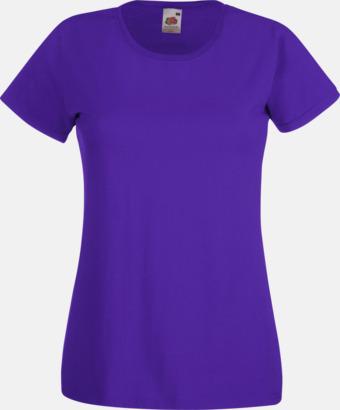 Lila Figursydd damt-shirt med reklamtryck