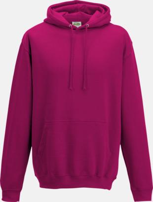 Hot Pink Billiga collegetröjor i unisexmodell - med tryck