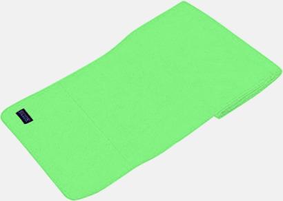 Lime Green Högkvalitativa fleecehalsdukar med egen brodyr