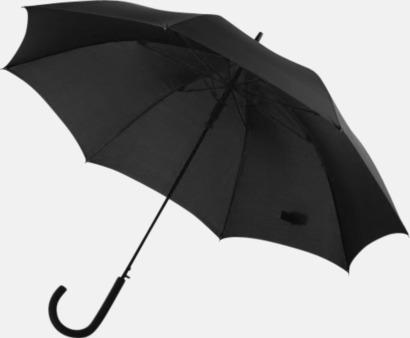 Svart Stormsäkra, automatiska paraplyer med tryck
