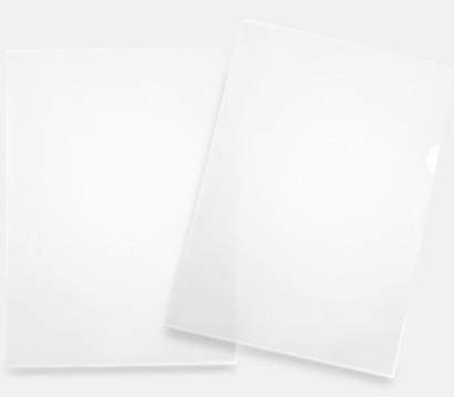 Glasklar Tumgreppsmapp A4 med tryck