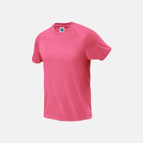 Floucerande Rosa (herr) Funktions t-shirts i herr- & dammodell med reklamtryck