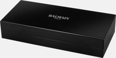 Lackerad presentförpackning Balmains Neptune-pennor i 2-delars set med laserlogo