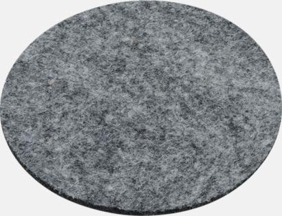 Glasunderlägg av filt i 4-pack med reklamtryck