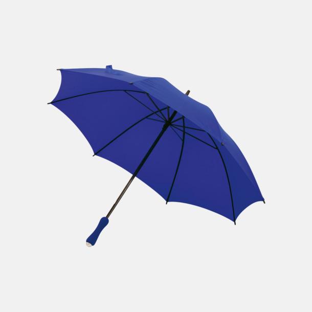 Blå Paraplyer med bärremmar - med tryck