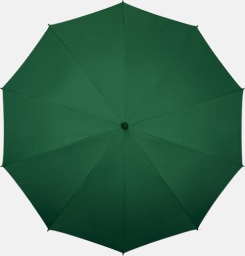 Grön (PMS 567C)  Stora golfparaplyer med eget tryck