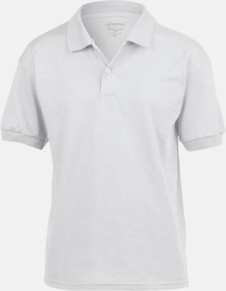 Vit Billiga barnpikétröjor med tryck eller brodyr