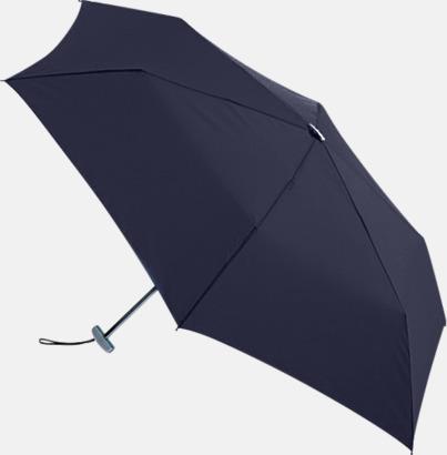 Marinblå Super slim kompaktparaplyer med tryck
