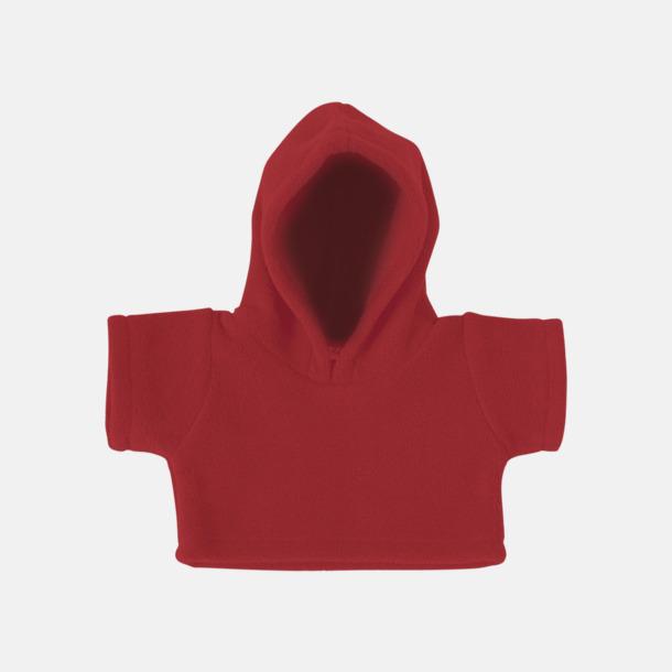 Röd (fleece) Små huvtröjor för gosedjur - med reklamtryck