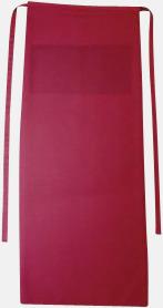 Regency Red Långa förkläden i många färger med reklamtryck