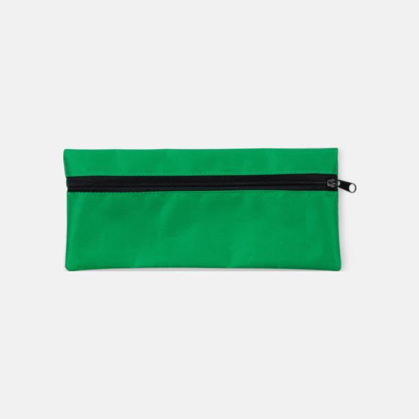 Grön Klassiska pennskrin med tryck