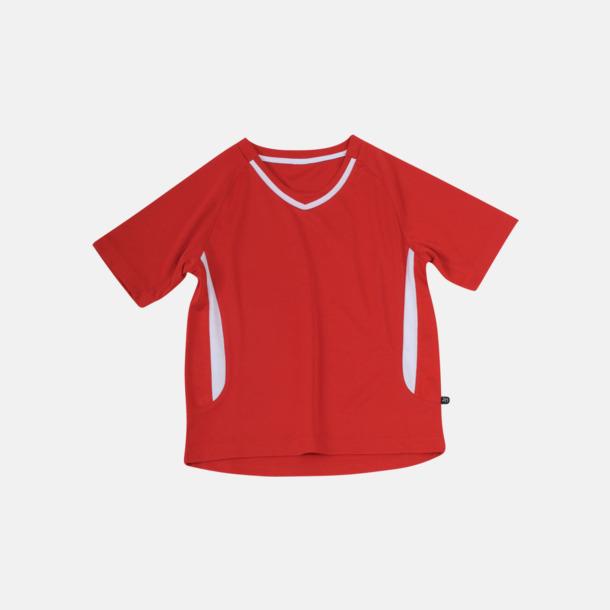 Röd / Vit Snabbtorkande funktionströjor med eget tryck eller bordyr