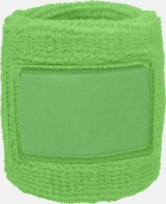Ljusgrön Armsvettband med label att trycka på