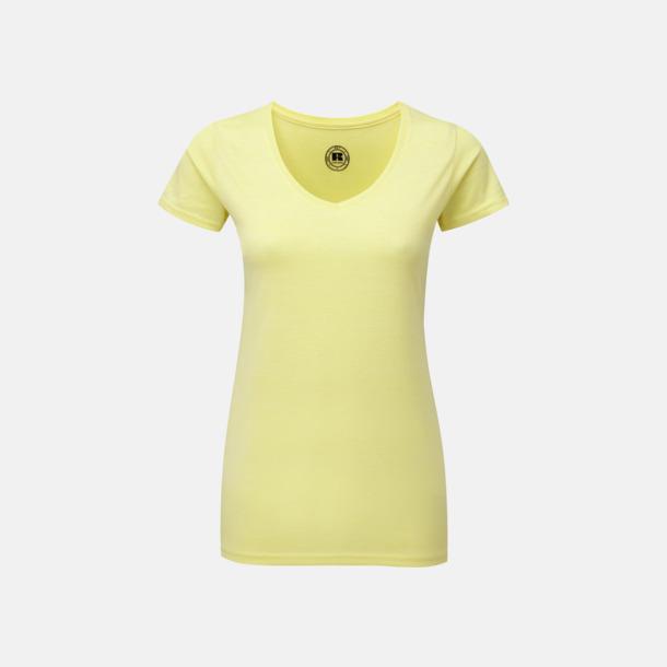 Yellow Marl (v-neck dam) Färgstarka t-shirts i herr- och dammodell med reklamtryck