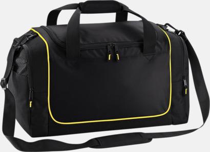 Svart/Gul Kompakta träningsväskor med reklamtryck