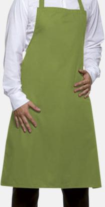 Ljusgrön (2276C) Förkläden med eget tryck